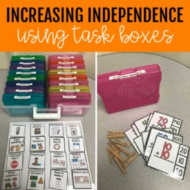 How to Increase Independence Using Task Boxes in the Classroom